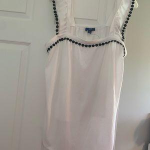 White and black tank blouse APT9